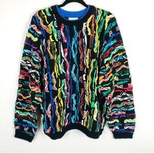 Coogi Vintage Black Colorful Men's Sweater sz L